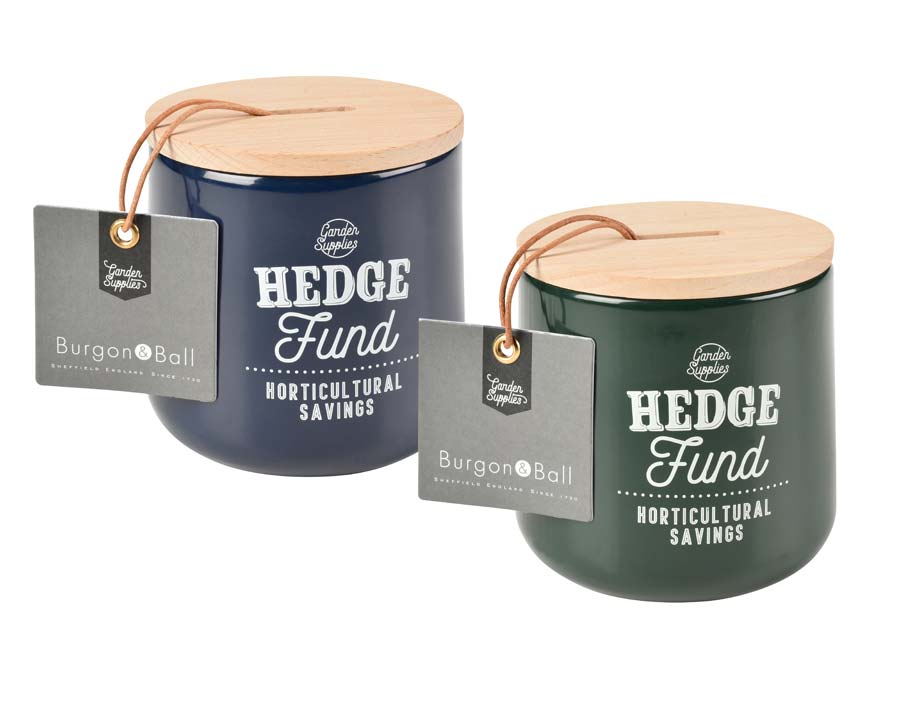 Hedge Fund Money Boxes in Atlantic Blue and Frog - Burgon and Ball