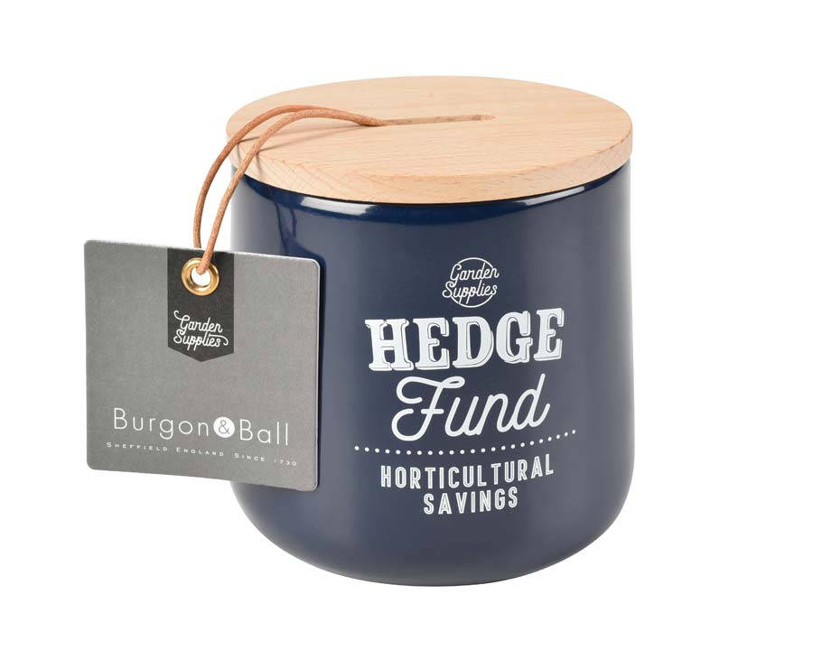 Hedge Fund Money Box in Atlantic Blue  - Burgon and Ball