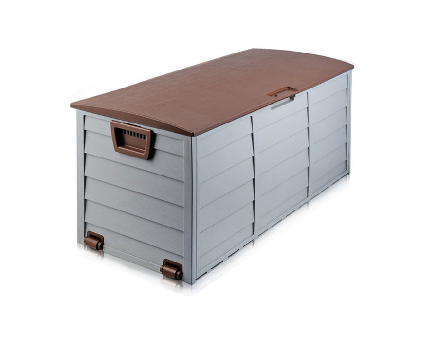 Outdoor storage box 290 litre - brown accent
