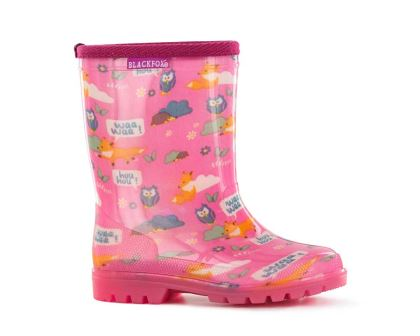 Foxy Gumboots for children in pink by Blackfox
