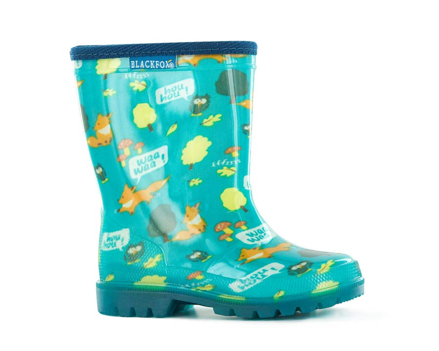 Foxy Gumboots for children - Blue