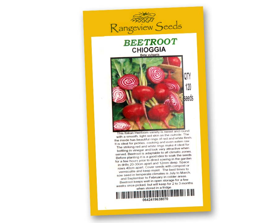 Beetroot Chioggia seeds from Rangeview of Tasmania