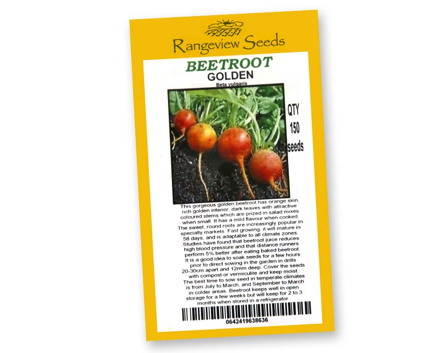 Beetroot Golden Detroit by Rangeview Seeds of Tasmania