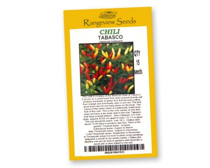 Chili Tabasco - Rangeview Seeds of Tasmania