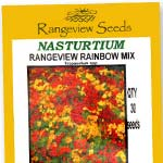 Nasturtium Rainbow Mix - Rangeview Seeds