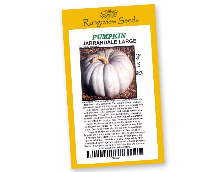 Pumpkin Jarrahdale Large - Rangeview Seeds, Tasmania