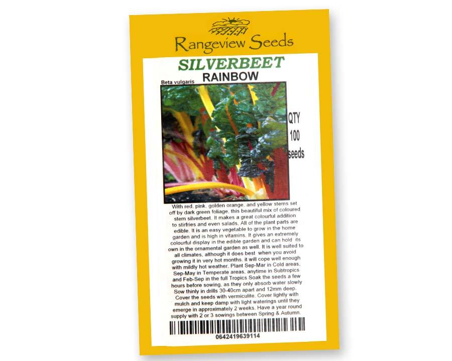 Silverbeet Rainbow - Rangeview Seeds, Tasmania