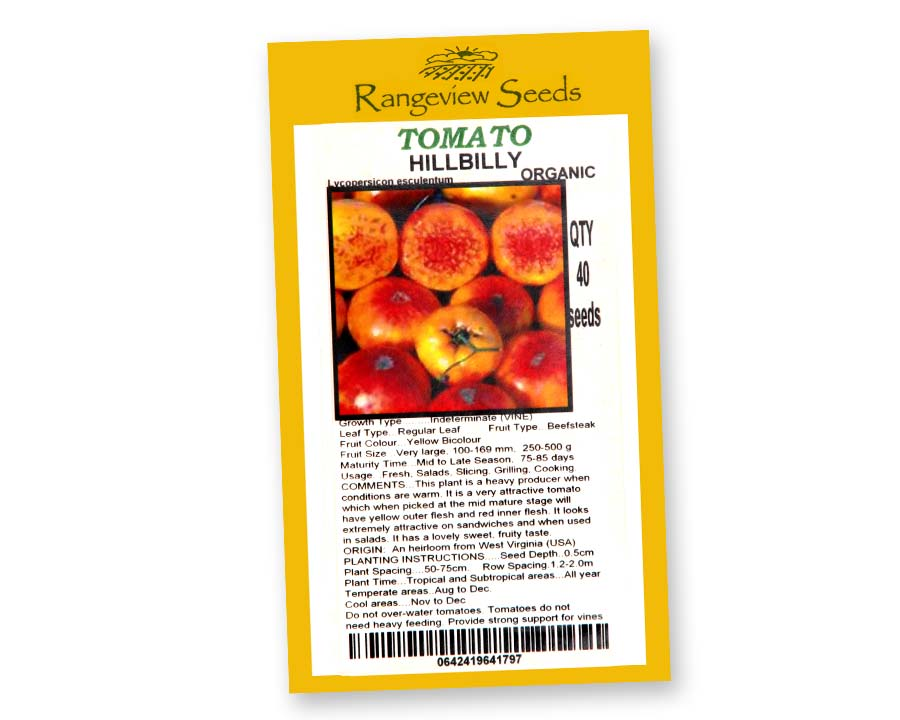 Tomato Hillbilly - Rangeview Seeds, Tasmania