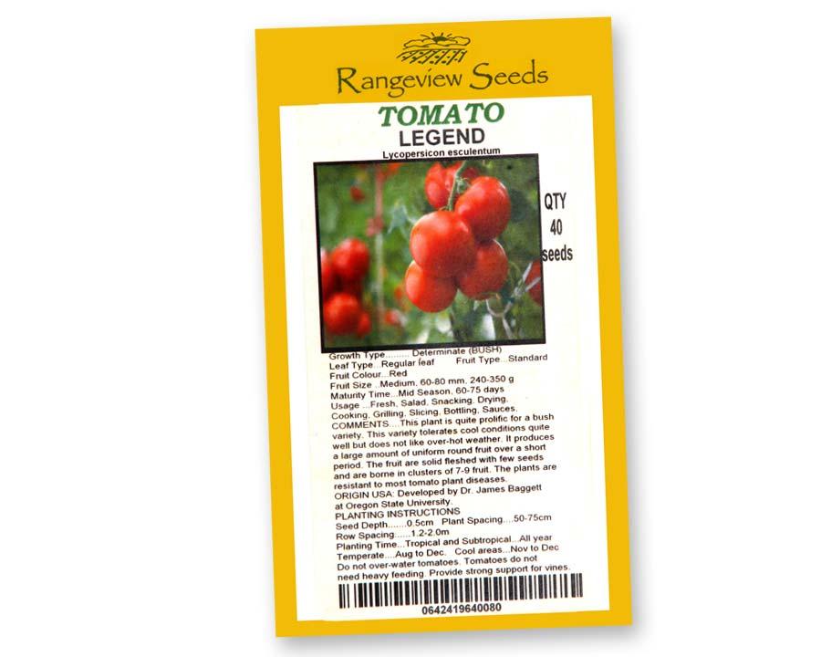 Tomato Legend - Rangeview Seeds, Tasmania