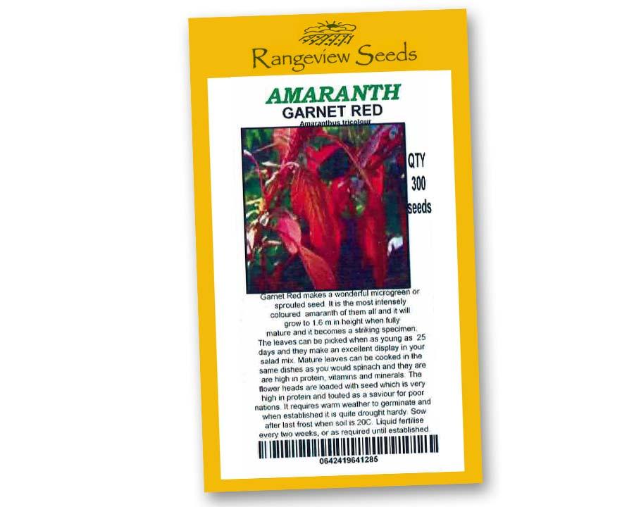 Amaranth Garnet Red - Rangeview Seeds
