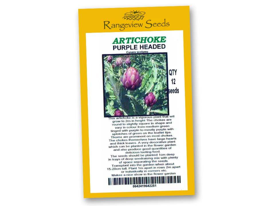 Artichoke Purple headed - Rangeview Seeds