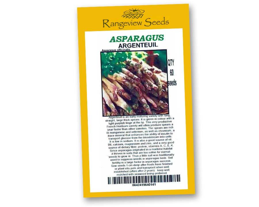 Asparagus Argenteuil - Rangeview Seeds