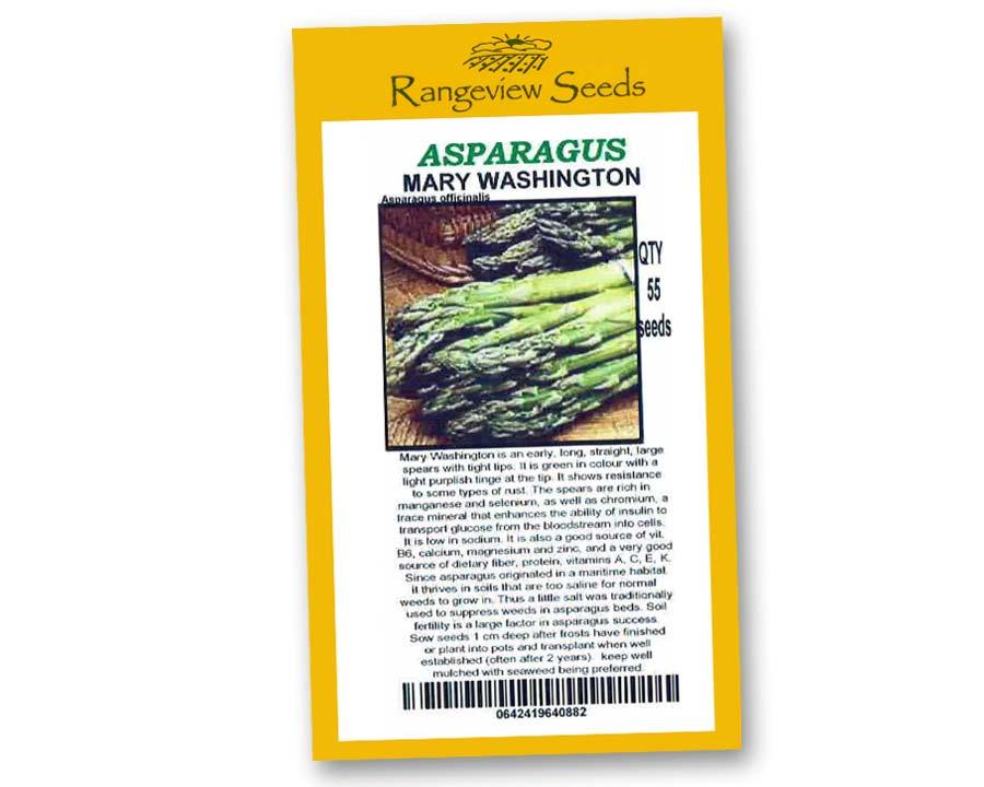 Asparagus Mary Washington - Rangeview Seeds
