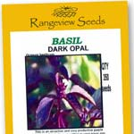 Basil Dark Opal - Rangeview Seeds