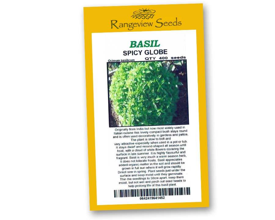 Basil Spicy Globe - Rangeview Seeds
