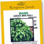 Basil Greek Mini Ball - Rangeview Seeds