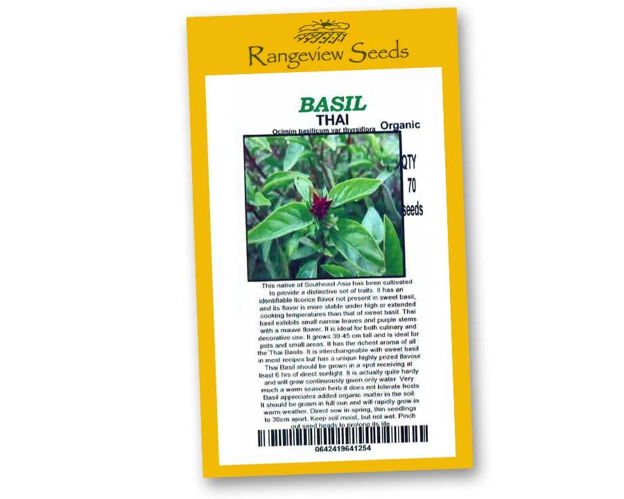 Basil Thai Organic - Rangeview Seeds