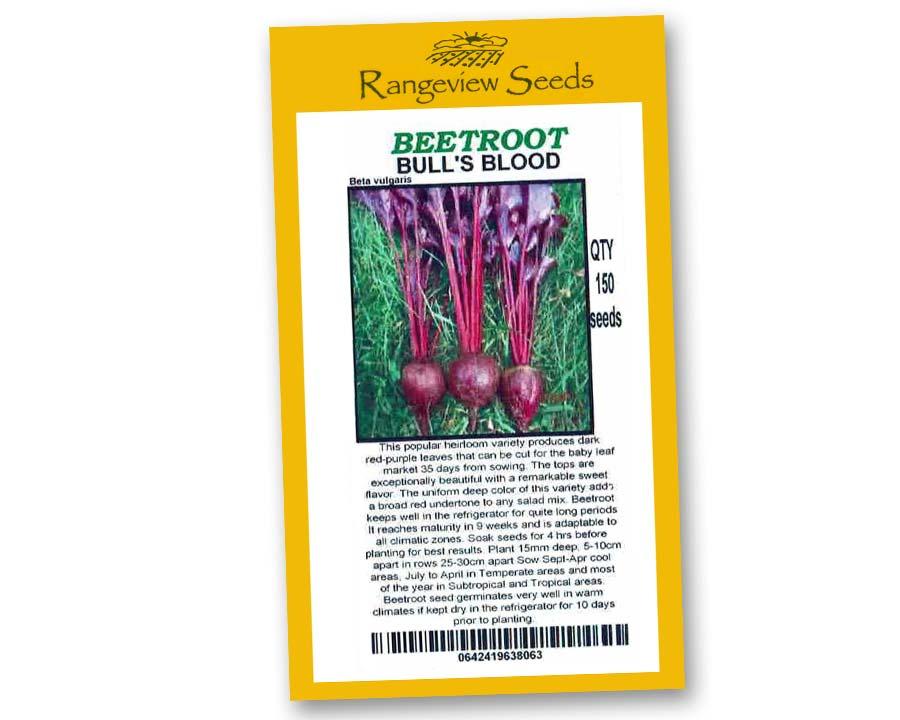 Beetroot Bulls Blood - Rangeview Seeds