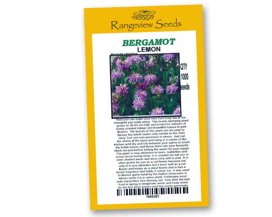 Bergamot Lemon - Rangeview Seeds