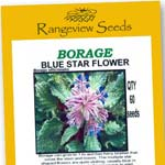 Borage Blue Star Flower Organic - Rangeview Seeds