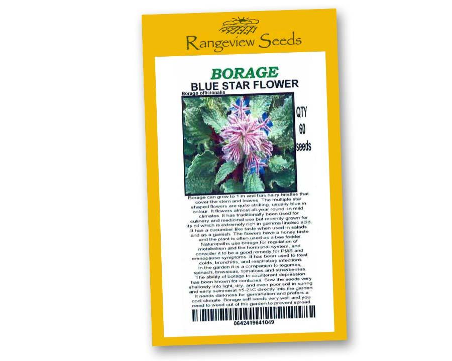 Borage Organic - Rangeview Seeds
