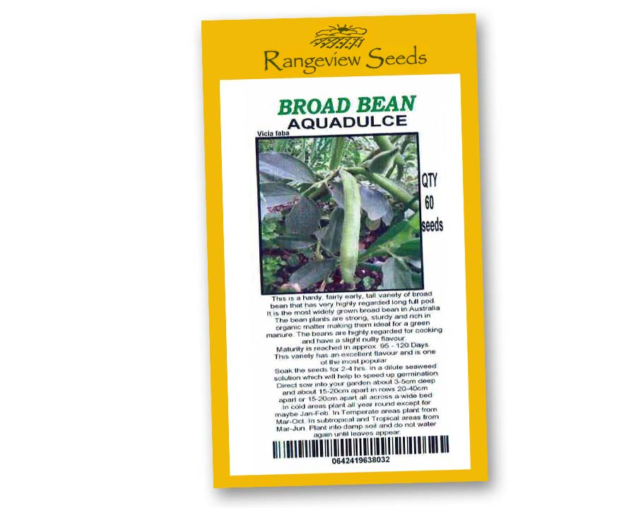 Broad Bean Aquadulce - Rangeview Seeds