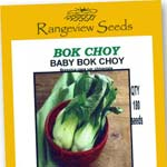Bok Choy - Baby Bok Choy - Rangeview Seeds