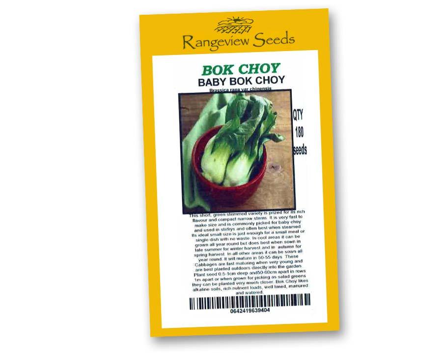 Bok Choy - Rangeview Seeds