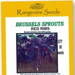 Brussels Sprouts Red Ribs Organic - Rangeview Seeds