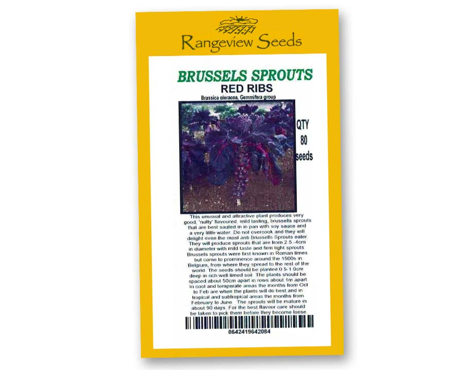 Brussels Sprouts Red Ribs - Rangeview Seeds