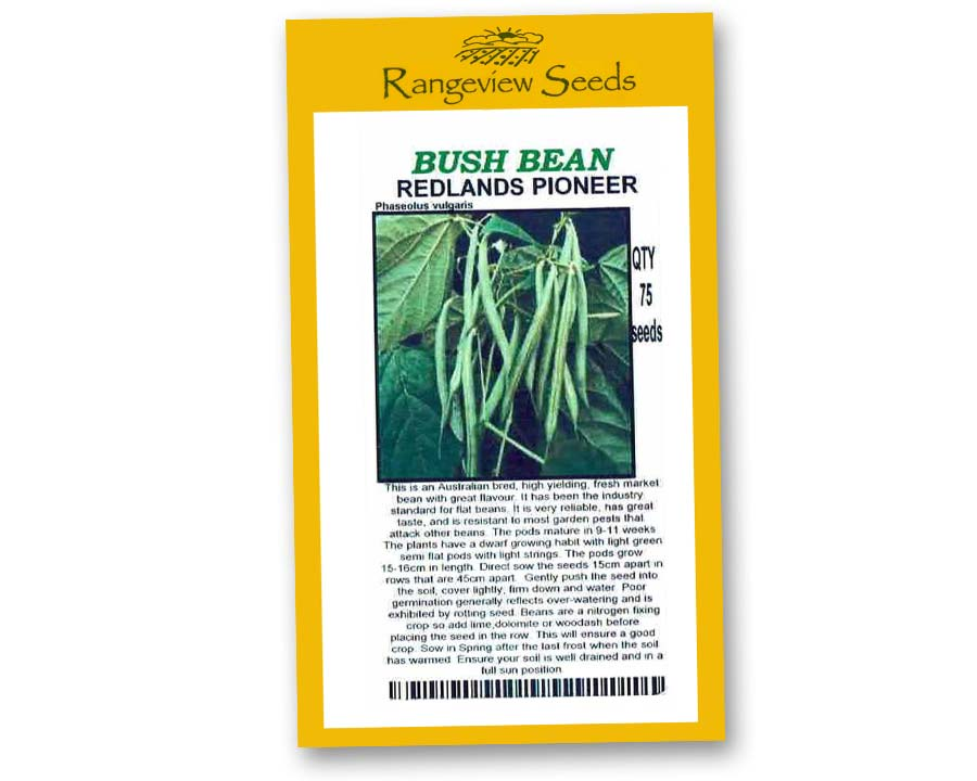 Bush Beans Redlands Pioneer - Rangeview Seeds