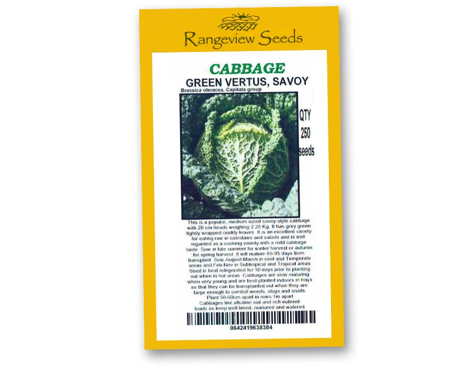 Cabbage Green Vertus Savoy - Rangeview Seeds