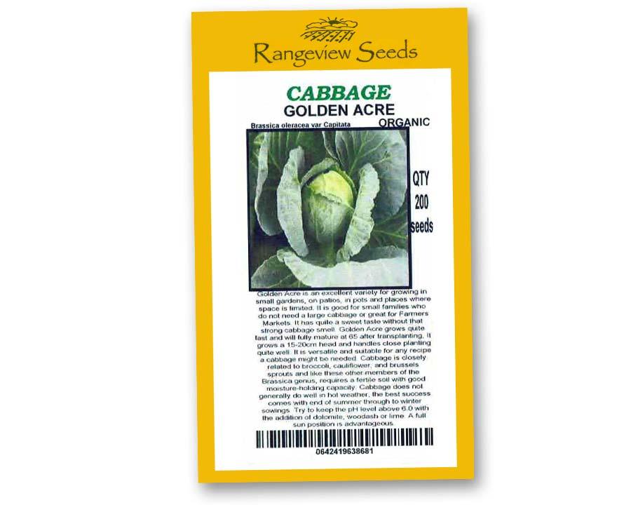 Cabbage Golden Acre - Rangeview Seeds