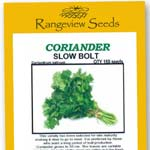 Coriander Slow Bolt Organic - Rangeview Seeds