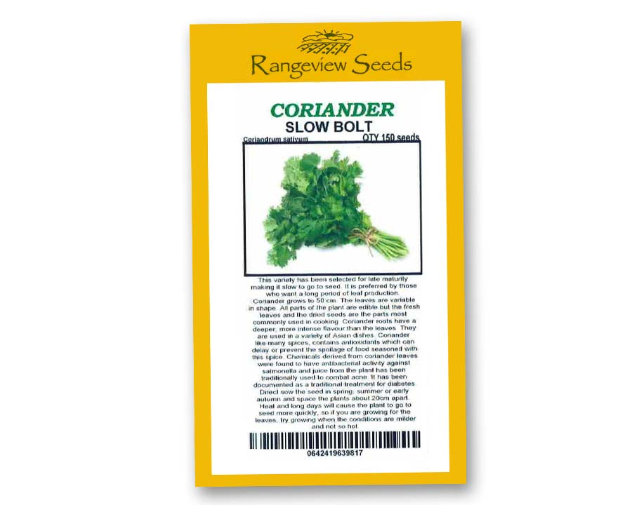 Corainder Slow Bolt - Rangeview Seeds