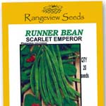 Bean Runner Scarlet Emperor - Rangeview Seeds
