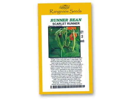 Runner Bean Scarlet Runner - Rangeview Seeds