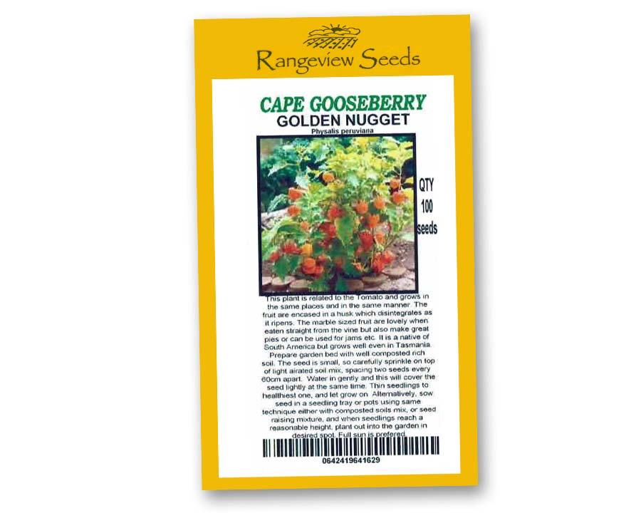 Cape Gooseberry Golden Nugget - Rangeview Seeds
