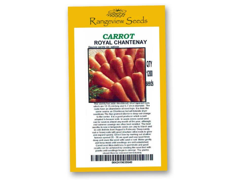 Carrot Royal Chantenay - Rangeview Seeds