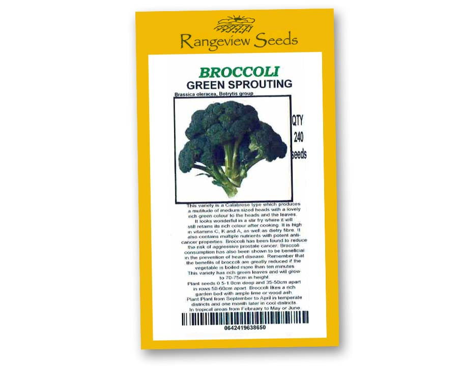 Broccoli Green Sprouting - Rangeview Seeds