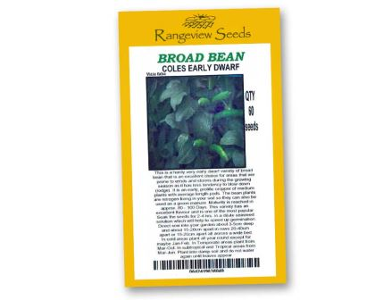 Broad Beans Coles Early Dwarf - Rangeview Seeds