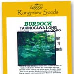 Burdock Takinagawa Long -  Rangeview Seeds