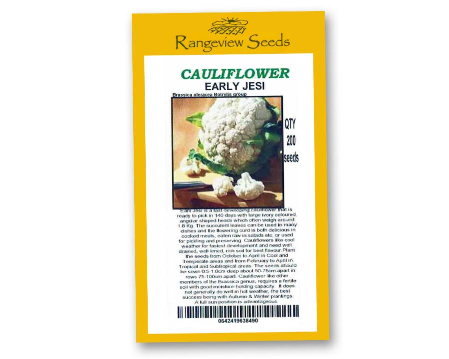 Cauliflower Early Jesi - Rangeview Seeds