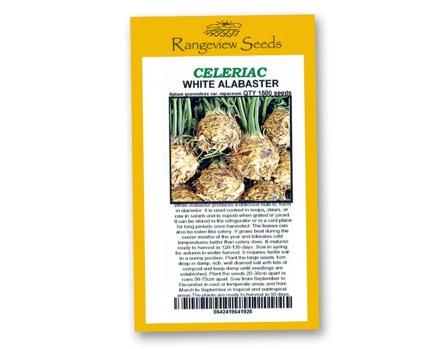 Celeriac White Alabster - Rangeview Seeds