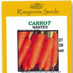 Carrot Nantes Organic - Rangeview Seeds