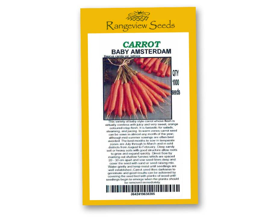 Carrot Baby Amsterdam - Rangeview Seeds