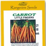 Carrot Little Fingers - Rangeview seeds
