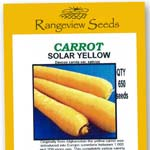 Carrot Solar Yellow - Rangeview Seeds