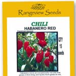 Chili Habanero Red Organic- Rangeview Seeds