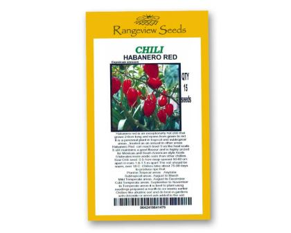 Chili Habanero Red - Rangeview Seeds